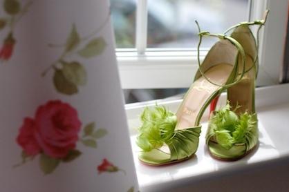 WP groene trouwschoenen