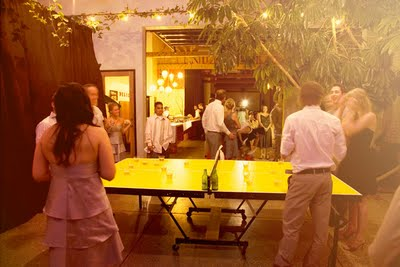 los-angeles-wedding-yellow-ping-pong-table
